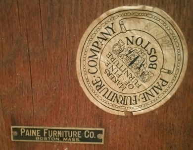 Paine Furniture Company Labels